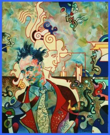 Autoportrait au portrait de Yves Tanguy.